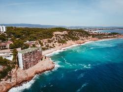 Spain, Cap de Salou coastline tropical beach