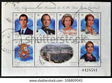 SPAIN - CIRCA 2001: Collection stamps shows royal family, circa 2001