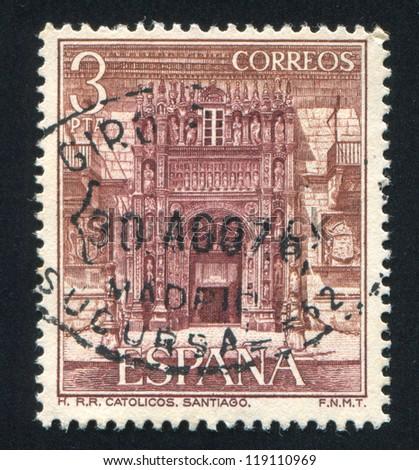 spain   circa 1976  stamp...