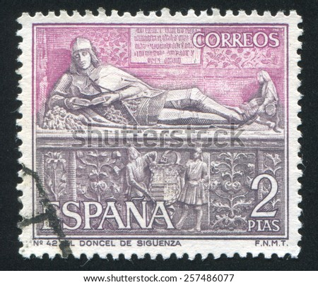 spain   circa 1968  stamp...