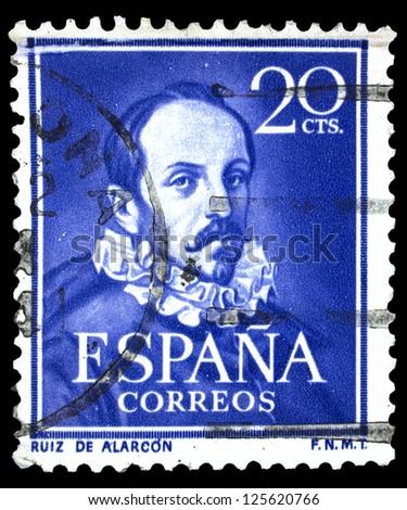 SPAIN CIRCA 1950 Stamp Printed In Spain Showing Portrait Of Juan Ruiz De