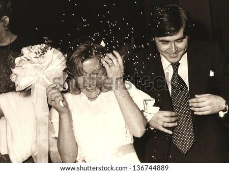 spain , CIRCA 1950 - Wedding day - Circa 1947