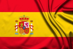 Spain flag as background. Top