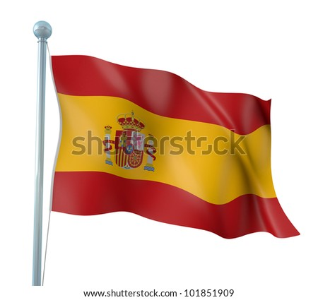 Spain Flag Detail Render