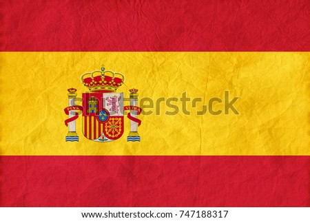 spain flag on paper texture...