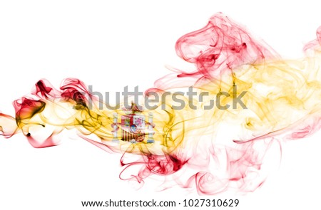 Spain flag smoke
