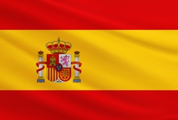 Spain flag with fabric texture