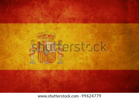 spain flag with old texture grunge and vintage