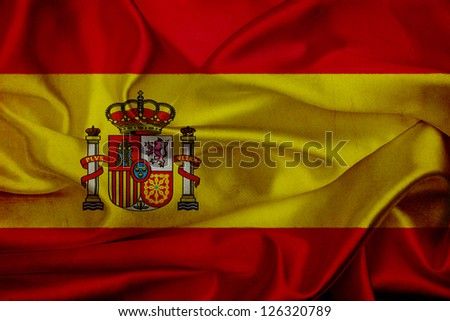 Spain grunge waving flag