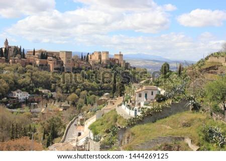 Spain Gypsy district Granada Landscape #1444269125