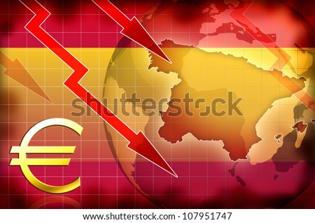 spain news crisis background information illustration