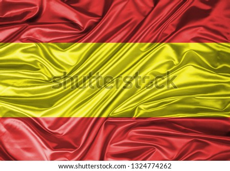 Spain Rippled Satin Flag #1324774262