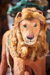 Spain, Toy Lion Figure from a Medieval Merry Go Round Carousel