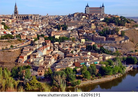 Spain. View of the mediaeval town Toledo.