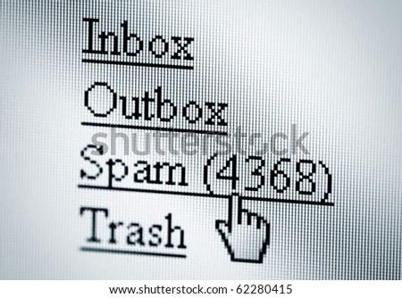 Spam, computer screen