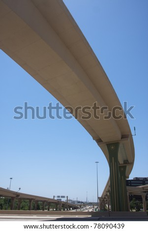 Span of bridge over an interstate highway