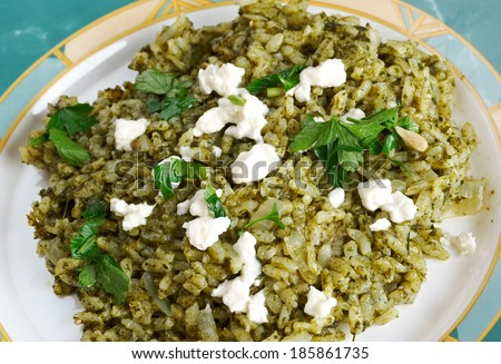 spanakorizo - Spinach and rice greek dish