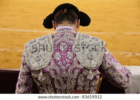 Spanish bullfighter seen from behind