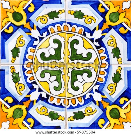 Spanish ceramic - stock photo