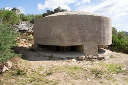 Spanish civil war, bunker and trench