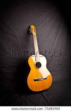 spanish classic guitar - stock photo