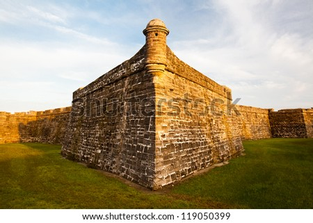 Spanish colonial fortress of Castillo de San Marcos at St. Augustine