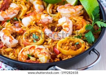 Rice Spanish Dishes Spanish Dish Paella With