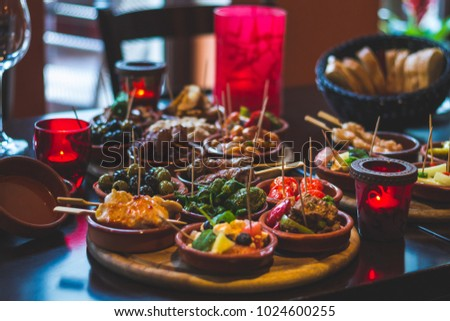 Spanish food, Tapas Foto stock ©