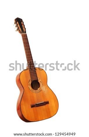 Spanish guitar isolated