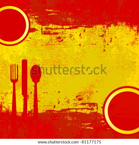 Spanish Menu template over flag of Spain