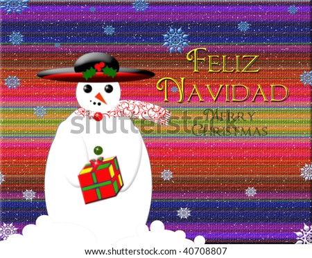 Spanish/Mexican Christmas graphic with text Feliz Navidad (Merry Christmas)