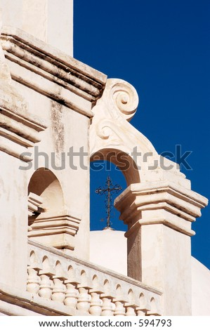 Spanish mission called White Dove of the Desert, near Tucson Arizona