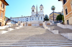 Spanish Steps in Piazza di Spagna. Rome, Italy