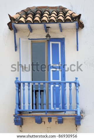 Spanish style balcony in columbia stock photo 86930956 for Balcony in spanish