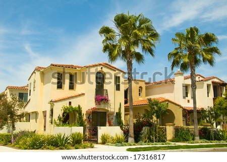 Spanish Style Houses in a Master Planned Community