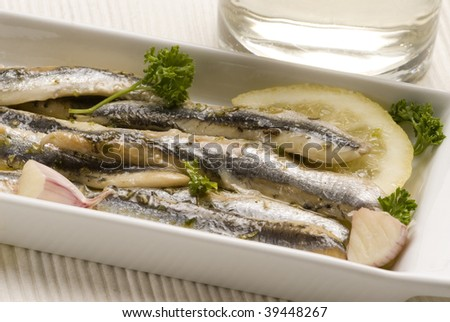 how to serve marinated white anchovies