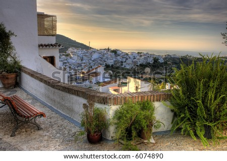 Spanish urban landscape, Costa Del Sol (HDR, three exposures)