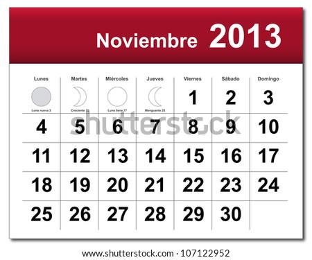 how to say november in spanish