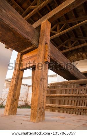 Spanish wood work.