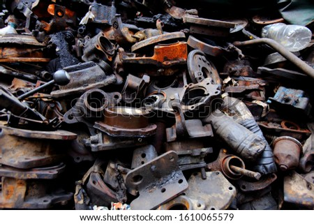 Spare parts and parts of cars that are no longer used are separated for sale in the Talat Noi area. Bangkok