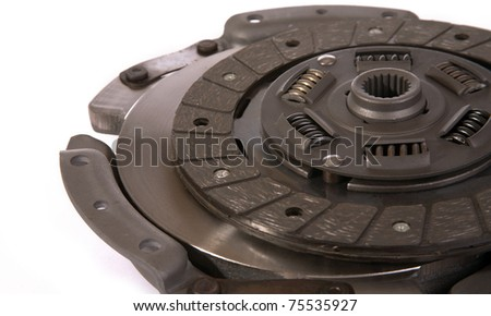 Spare parts of motor vehicle forming clutch plate and disc.