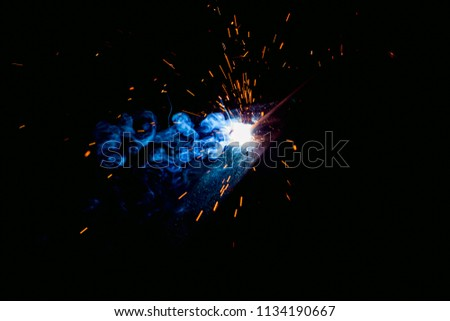 Spark Particles for welding. #1134190667