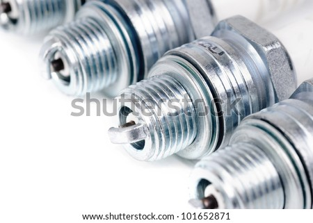 spark-plug isolated on the white background