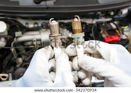 Spark plug replacement work #342370934