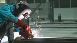 sparkle of welding , copy space for you text