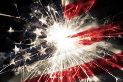 Sparkler american flag