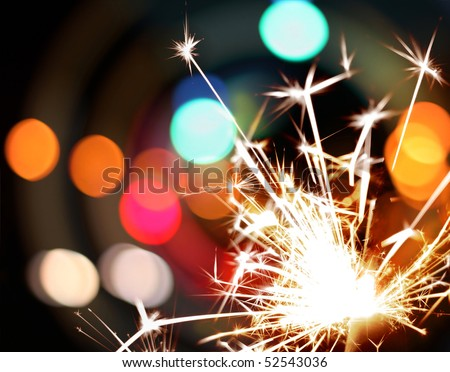 sparkler and lights