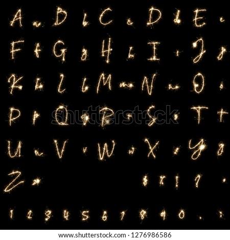 sparkler fonts and sparklers alphabet fireworks alphabet #1276986586