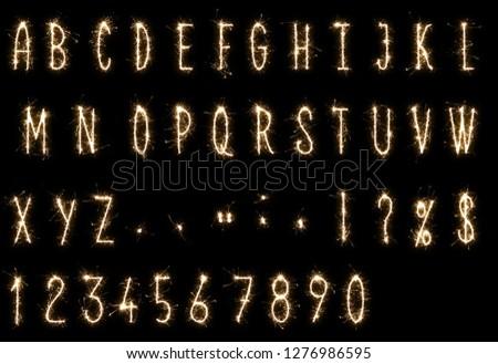 sparkler fonts and sparklers alphabet fireworks alphabet #1276986595