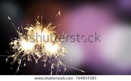 sparklers - New Year's Eve or e.g. birthday #764859385